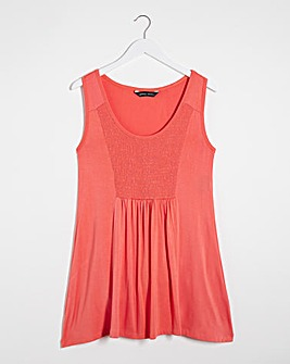 Coral Sleeveless Vest Tunic
