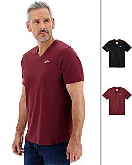 Joe Browns 2 Pack Vee Neck T-Shirt Long