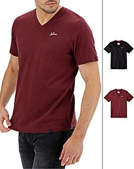 Joe Browns 2 Pack Vee Neck T-Shirt Long