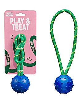 Wild & Woofy Dog Toy - Fetch & Treat