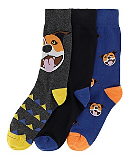 Wild Feet 2 Pack Staffy Socks