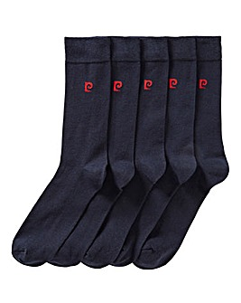 Pierre Cardin 5PK Plain Socks