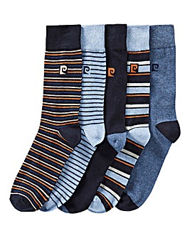 Pierre Cardin 5PK Stripe Socks