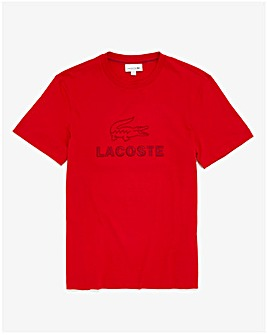 Lacoste Embroidered Croc Logo T-Shirt
