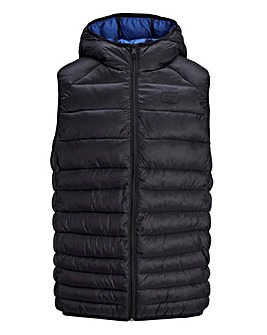 Jack & Jones Black Hooded Bodywarmer