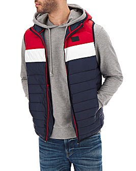 Jack & Jones Scarlet Hooded Bodywarmer