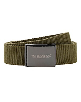 Voi Khaki Canvas Belt