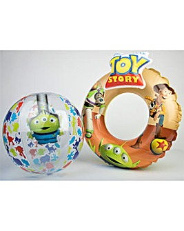 Disney Pixar Swimring And Beach Ball