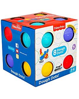 Fisher Price Dough Dot 4oz Cube Box Set 8pk - Sambro