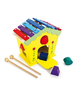 Dodoo House Wooden Musical Kid's Toy