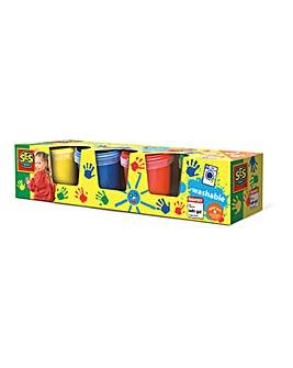 Children's Washable Finger Paints Set