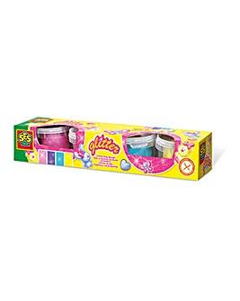 Children's Glitter Clay Play Dough Set