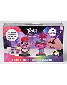 Trolls 2 Pack PYO Plaster Figurine