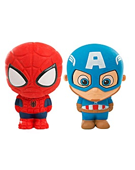 Marvel Avengers Giant Puzzle Eraser Captain America And Spiderman