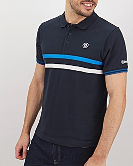 Lambretta Chest Stripe Polo Long