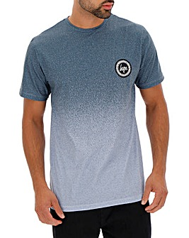 Hype Teal Speckle Fade T-Shirt