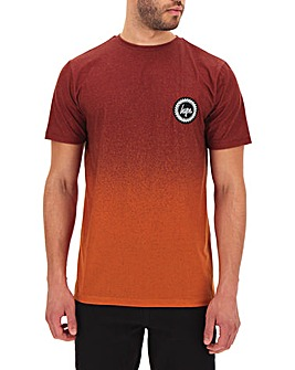 Hype Burnt Orange Speckle Fade T-Shirt
