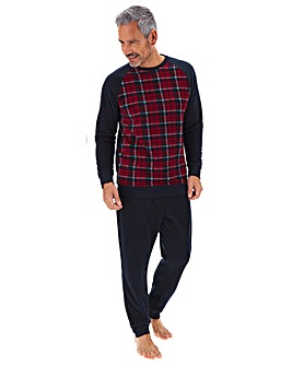 Red Check Fleece Long Pyjama Set