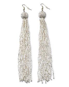 Beaded Tassel Earrings