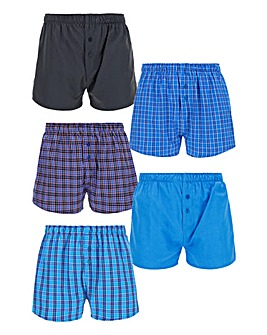 Pack of 5 Woven Print Boxers