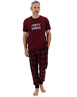 Wine Forty Winks Pyjama Set