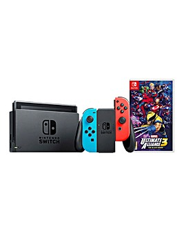 Nintendo Switch Neon Console + Marvel