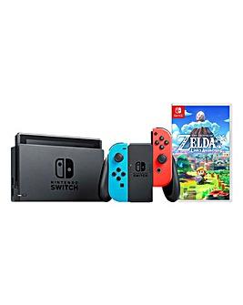 Nintendo Switch Neon Console + Zelda