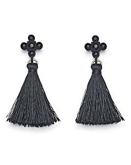 Tassel Cross Earrings