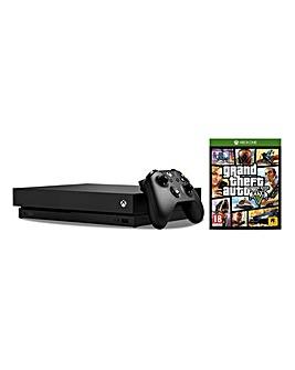 Xbox One X Console + GTA