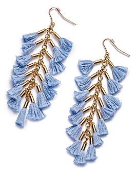 Multi Tassel Drop Earrings