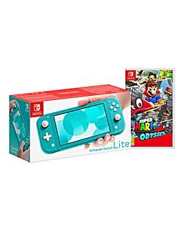 Nintendo Lite Turq + Super Mario Odyssey