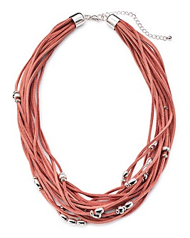 Joanna Hope Pink Cord Necklace