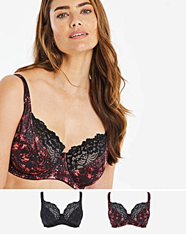 2 Pack Laura Full Cup Bra