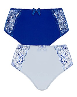 Pretty Secrets 2 Pack Ella Lace Briefs