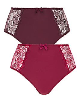 Pretty Secrets2 Pack Ella Lace Briefs