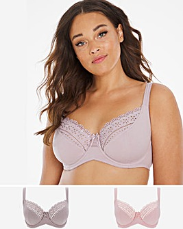 Pretty Secrets Jane 2 Pack PEARL/DUSK Full Cup Wired Bras