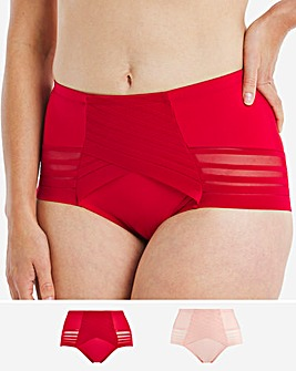 Magisculpt 2 Pack No VPL Crimson/Pearl Deep Control Brief