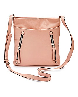 Pink Slouch Messenger Bag