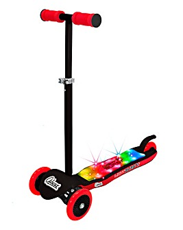 Light Burst Scooter Black & Red