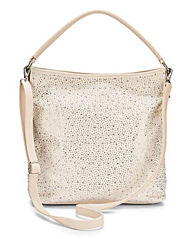 Joanna Hope Diamante Hobo Bag