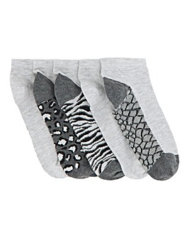 5 Pack Trainer Socks- Wide Fit