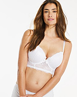 Pretty Secrets Ella Lace Black Ultimate Boost White Plunge Bra