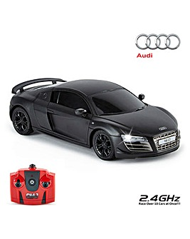 1:24 RC Audi R8 GT Black Remote Control Car