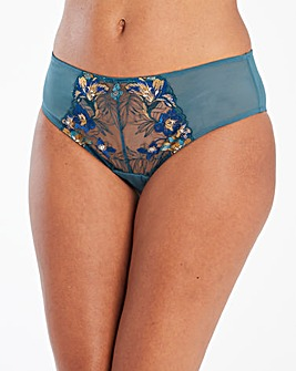Contemporary Embroidered Midi Brief
