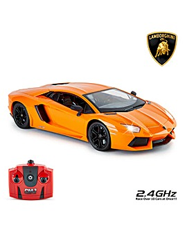 1:14 RC Lamborghini Aventador Orange Remote Control Car
