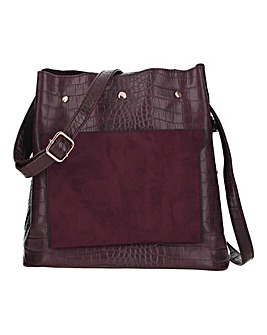 Croc Detail Bucket Bag