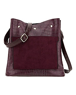 Croc Detail Bucket Bag