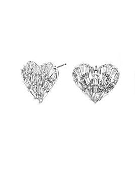 Jon Richard Shattered Heart Stud Earring