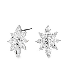 Jon Richard Silver Flower Stud Earring