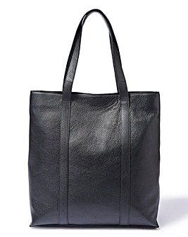 Structured Leather Shopper Bag